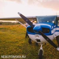 Полет на легком самолете в Томске